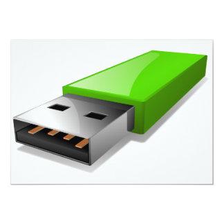 """Invitaciones de memoria USB Invitación 5"""" X 7"""""""