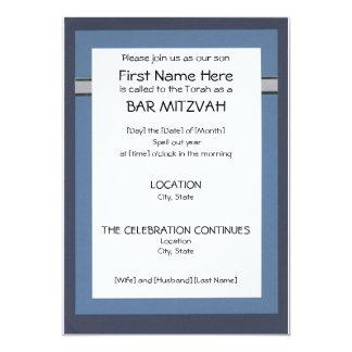 Invitaciones de Mitzvah de la barra Invitación 12,7 X 17,8 Cm