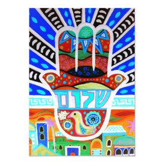 Invitaciones de Mitzvah de la barra del palo Invitación 12,7 X 17,8 Cm