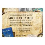 Invitaciones de Mitzvah de la barra/del palo del Invitación 12,7 X 17,8 Cm