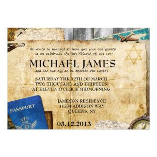 Invitaciones de Mitzvah de la barra del palo del W