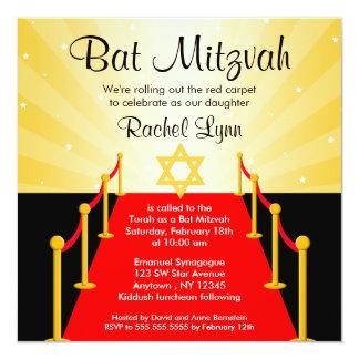 Invitaciones de Mitzvah del palo de Hollywood de Comunicado Personal