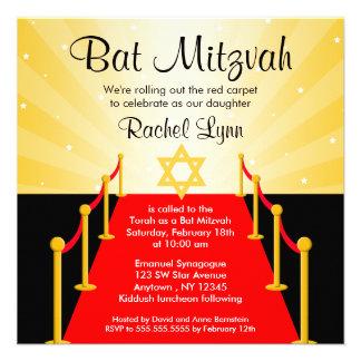Invitaciones de Mitzvah del palo de Hollywood de l Comunicado Personal