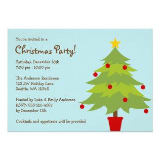 Invitaciones de moda de la fiesta de Navidad del á Comunicado Personalizado