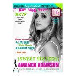 Invitaciones de moda de la portada de revista del  comunicados personalizados