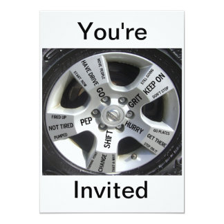 Invitaciones de motivación invitación 12,7 x 17,8 cm