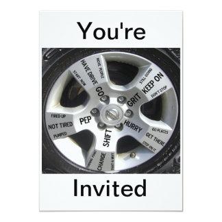 """Invitaciones de motivación invitación 5"""" x 7"""""""