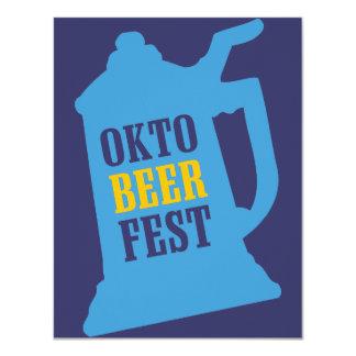 Invitaciones de Oktoberfest - fiesta de la prueba Comunicado