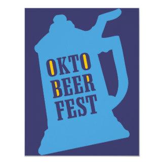 """Invitaciones de Oktoberfest - fiesta de la prueba Invitación 4.25"""" X 5.5"""""""