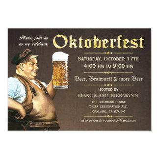 """Invitaciones de Oktoberfest (vintage) v.1 Invitación 5"""" X 7"""""""