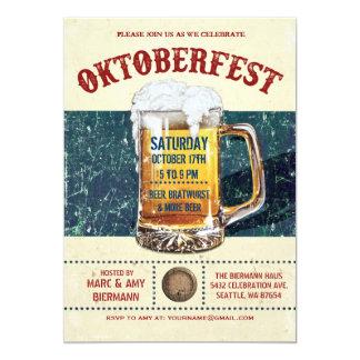 """Invitaciones de Oktoberfest - vintage v.1 rústico Invitación 5"""" X 7"""""""