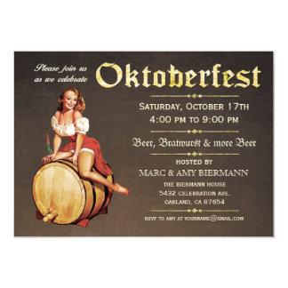 """Invitaciones de Oktoberfest (vintage) v.2 Invitación 5"""" X 7"""""""