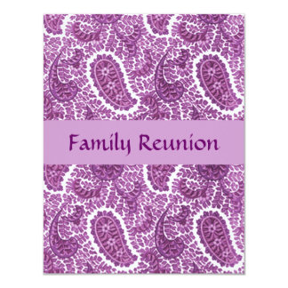 """Invitaciones de Paisley del ciruelo de la púrpura Invitación 4.25"""" X 5.5"""""""