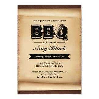 """Invitaciones de papel del fiesta del Bbq de la Invitación 5"""" X 7"""""""