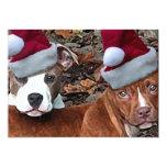 Invitaciones de Pitbull del navidad Invitación 12,7 X 17,8 Cm