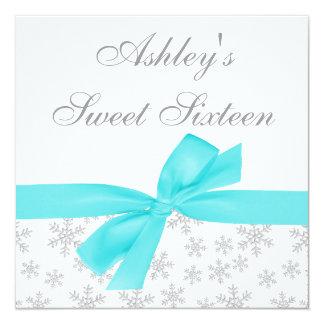Invitaciones de plata del dulce 16 del arco del comunicados personales