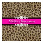 Invitaciones de Quinceanera del leopardo de las Invitación 13,3 Cm X 13,3cm