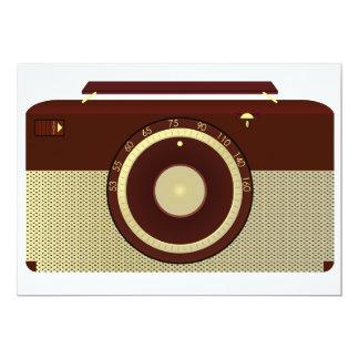 """Invitaciones de radio antiguas invitación 5"""" x 7"""""""
