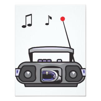 """Invitaciones de radio de la música que juegan invitación 4.25"""" x 5.5"""""""