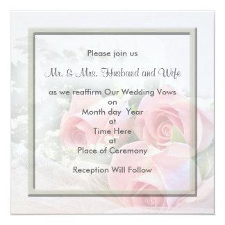 """Invitaciones de renovación de los votos de boda invitación 5.25"""" x 5.25"""""""