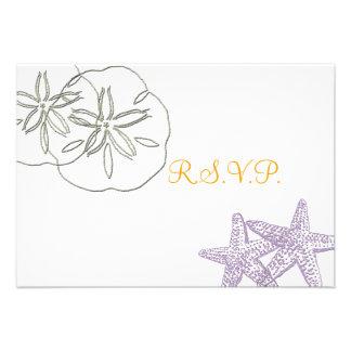 Invitaciones de RSVP de la playa Comunicado Personal