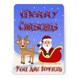 Invitaciones de Santa de las Felices Navidad Anuncios