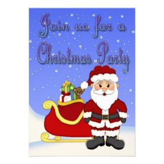 Invitaciones de Santa de las Felices Navidad Invitación