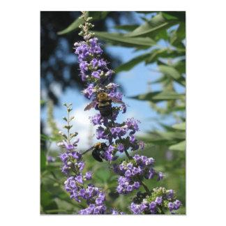 Invitaciones de trabajo de las abejas comunicado personalizado