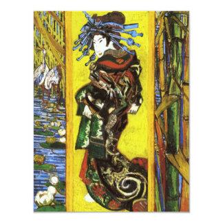 """Invitaciones de Van Gogh Japonaiserie Oiran Invitación 4.25"""" X 5.5"""""""