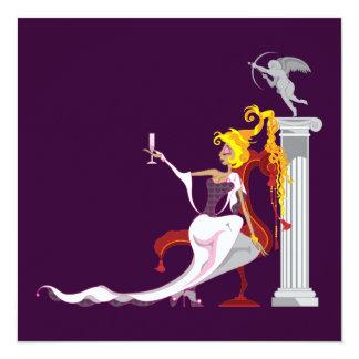 Invitaciones de Venus y del eros Invitación 13,3 Cm X 13,3cm