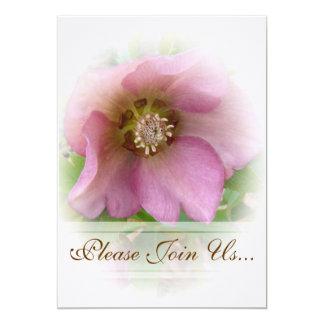 """Invitaciones de Weddding del rosa cuaresmal Invitación 5"""" X 7"""""""