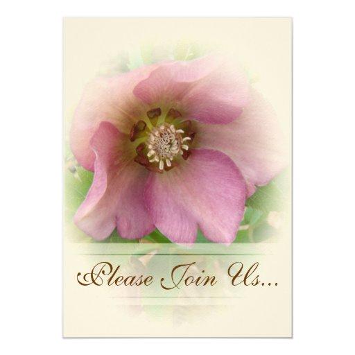 Invitaciones de Weddding del rosa cuaresmal Invitación 12,7 X 17,8 Cm