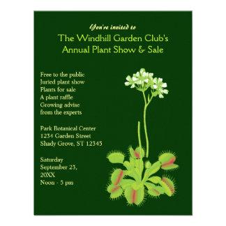 Invitaciones del acontecimiento del jardín anuncio personalizado