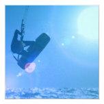 Invitaciones del aire de Kitesurfing Anuncio