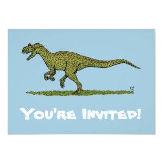 """Invitaciones del Allosaurus Invitación 5"""" X 7"""""""