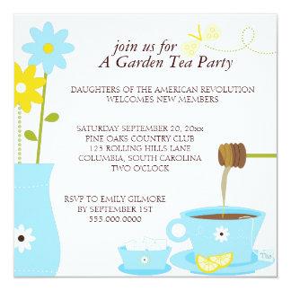 Invitaciones del alumerzo de la fiesta del té del invitacion personal