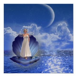 """Invitaciones del ángel del agua invitación 5.25"""" x 5.25"""""""