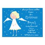 Invitaciones del ángel del brunch del navidad invitación
