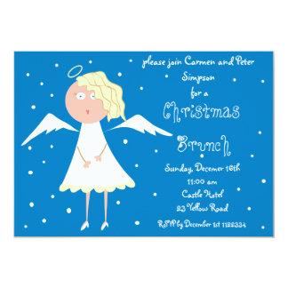 """Invitaciones del ángel del brunch del navidad invitación 5"""" x 7"""""""