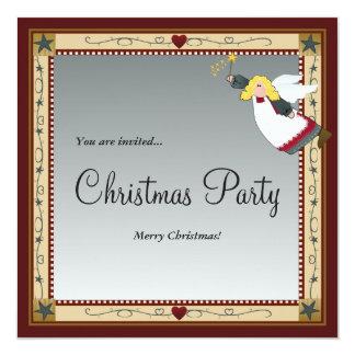 """Invitaciones del ángel del navidad invitación 5.25"""" x 5.25"""""""