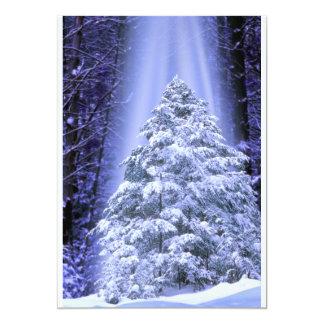 """Invitaciones del árbol de navidad invitación 5"""" x 7"""""""