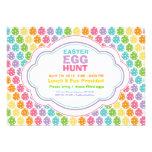 Invitaciones del arco iris de la caza del huevo de invitacion personalizada
