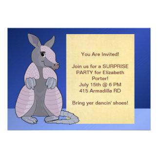 Invitaciones del armadillo invitacion personalizada