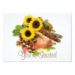 Invitaciones del arreglo floral del otoño invitación 12,7 x 17,8 cm