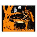 Invitaciones del arte de Halloween del vintage Comunicado Personal
