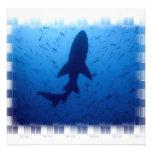 Invitaciones del ataque del tiburón comunicados