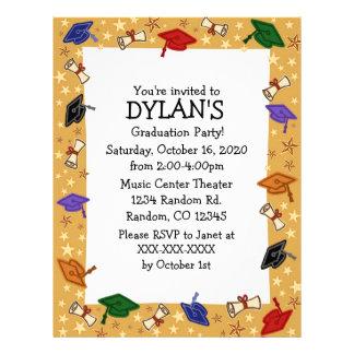Invitaciones del aviador de la fiesta de graduació flyer personalizado