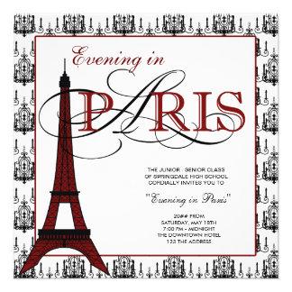 Invitaciones del baile de fin de curso de París Invitacion Personal