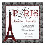 Invitaciones del baile de fin de curso de París Invitacion Personalizada