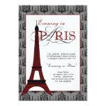 Invitaciones del baile de fin de curso de París Comunicado Personalizado